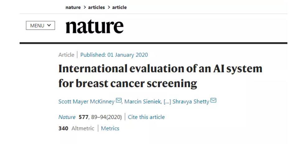 AI检测乳腺癌